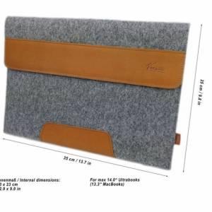 Für 13 Zoll MacBook Pro Tasche Schutzhülle Hülle Filztasche Tasche für MacBook Laptop Notebook aus Filz Pink Bild 2