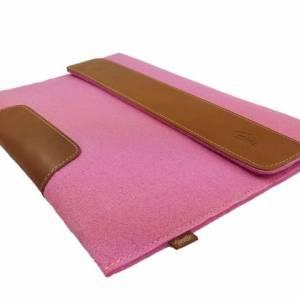 Für 13 Zoll MacBook Pro Tasche Schutzhülle Hülle Filztasche Tasche für MacBook Laptop Notebook aus Filz Pink Bild 3