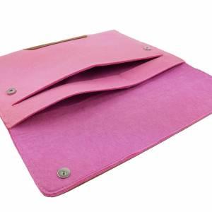 Für 13 Zoll MacBook Pro Tasche Schutzhülle Hülle Filztasche Tasche für MacBook Laptop Notebook aus Filz Pink Bild 4
