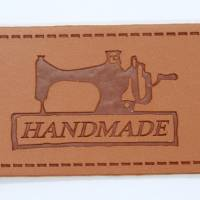 Handmade Label Kunstleder zum annähen  Bild 1