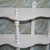 kleines Vintage Regal aus Holz Shabby Chic Bild 5
