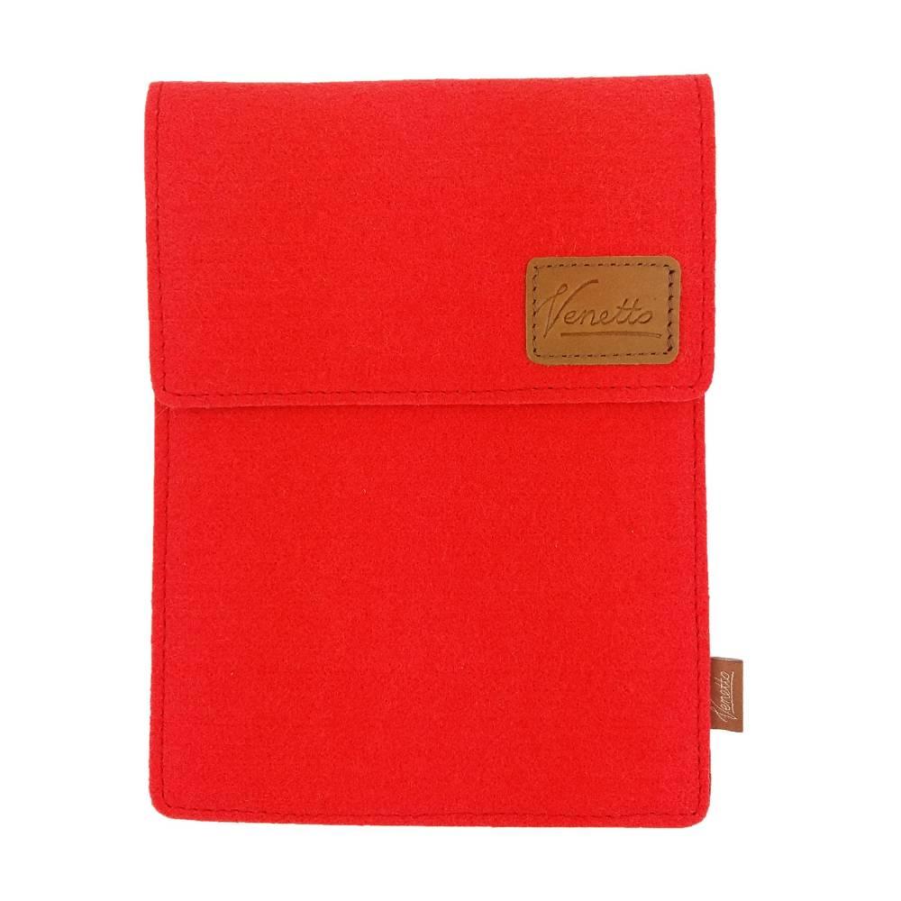 10.6 Tasche für Tablet eBook iPad Samsung Book Case Etui aus Filz  Schutzhülle Schutztasche Rot Bild 1