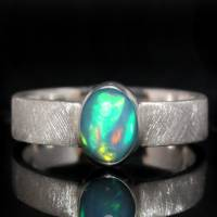 Opalring / Silberring mit Top Opal - Designerstück aus 925 Sterling Silber - Handgefertigt Bild 1