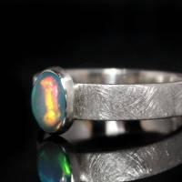 Opalring / Silberring mit Top Opal - Designerstück aus 925 Sterling Silber - Handgefertigt Bild 2
