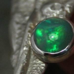 Opalanhänger - Kunstvoller Silberanhänger / Anhänger mit Opal - 925 Silber -  für Halsketten / Colliers Bild 2