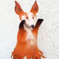 Gefilzte Handpuppe Fuchs  Bild 1