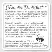 POSTER - Druckbares A4 Bild - Geschenk für beste Freundin Freund Bild 4