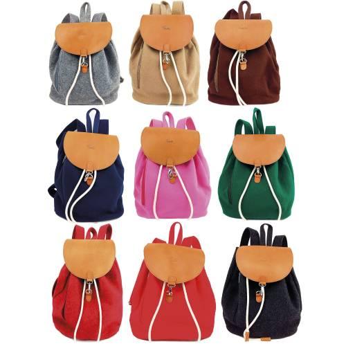 Venetto Designer Rucksack aus Leder und Filz Tasche unisex handgemacht / Tasche Kinder Damen Herren / Geschenk für Sie,