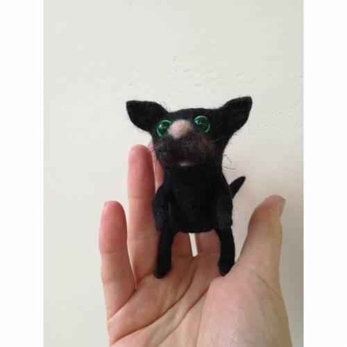 Fingerpuppe gefilzt Katze