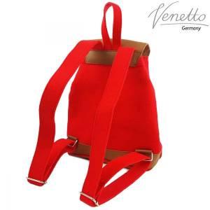 Filzrucksack Tasche Rucksack aus Filz und Leder Elementen sehr leicht backpack unisex Filztasche Rot Bild 2