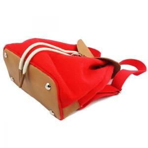 Filzrucksack Tasche Rucksack aus Filz und Leder Elementen sehr leicht backpack unisex Filztasche Rot Bild 4