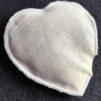 Lavendel-Duft-Herz  zum Knautschen aus schwarzem Leinen - Trostspender für Kranke / ältere Menschen Bild 2