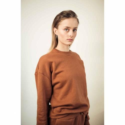 Sweatshirt Pullover Sweater in Copper Marl