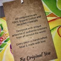 Farbenfroher Designer Pulli -Eco Fashion Art Print *Fische*grün/ Federn-100% Biobaumwolle -Sweatshirt Kleid Langarm Bild 10