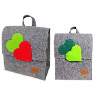 2 x Venetto Kinder Rucksack Tasche aus Filz unisex handgemacht Ranzer Tornister Schulranzen (Klein und Groß) Bild 1