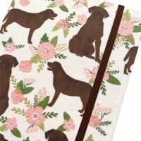 "Notizbuch Kladde Hardcover A5 Motiv ""Cute Labrador"" Blanko 80gPapier Labrador Fan Geschenk Bild 1"