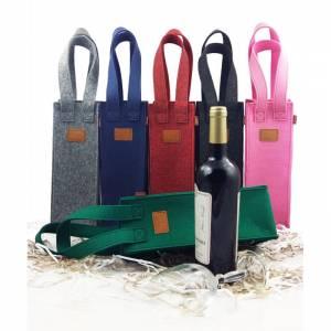 Geschenktasche Flaschen Tasche Weintasche pink Bild 1