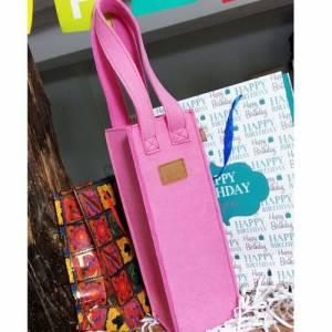 Geschenktasche Flaschen Tasche Weintasche pink Bild 4
