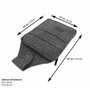 Multifunktions Gürteltasche Bauchtasche für Zuhause oder Arbeit Hüfttasche aus Filz, Schwarz meliert Bild 6