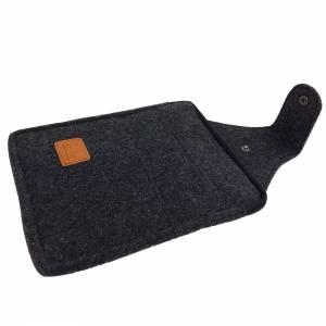 Multifunktions Gürteltasche Bauchtasche für Zuhause oder Arbeit Hüfttasche aus Filz, Schwarz meliert Bild 9