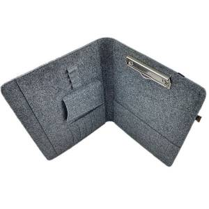 "13,3"" Organizer Hülle aus Filz Filztasche Filzhülle Schutzhülle Schutztasche für iPad Pro MacBook Air, Grau Bild 3"
