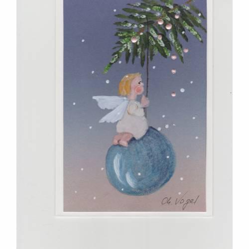 Weihnachtskarte-     Engelchen-   handgemalt