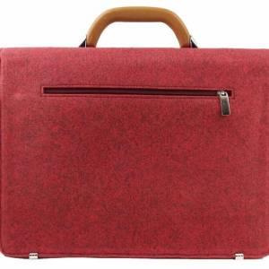 Aktentasche Tasche für MacBook Surface Umhängetasche uni Notebook Laptop Bürotasche rot Bild 2
