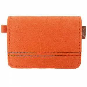 Kleines Mini Portemonnaie Geldtasche Damen Kinder Herren für Münzen Münz-Geldbörse mini Portemonnaie filz orange Bild 3
