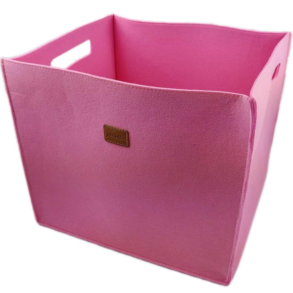 3-er Set Box Filzbox Keller-Regal Filz Aufbewahren rosa pink Bild 1