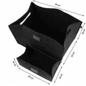 3-er Set Box Filzbox Keller-Regal Filz Aufbewahren rosa pink Bild 3
