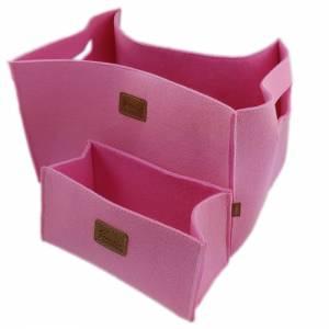 3-er Set Box Filzbox Keller-Regal Filz Aufbewahren rosa pink Bild 4