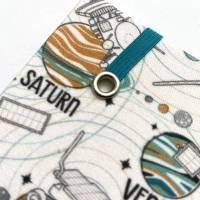 """Notizbuch """"Planets&Satellites"""" A5 Hardcover kariert stoffbezogen Planeten Universum Weltall Geschenk Geschenkide Bild 5"""
