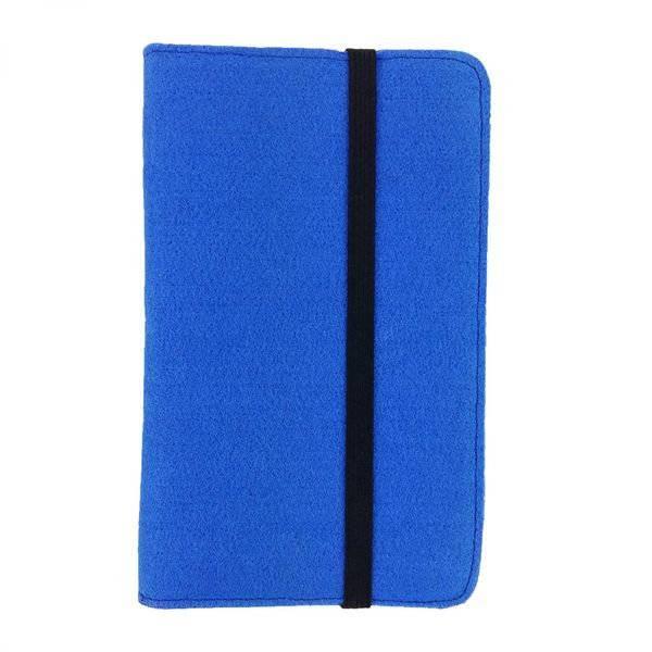 7 Zoll Tablethülle Etui Filztasche Buchhülle Schutzhülle für ebook Tablet blau Bild 1