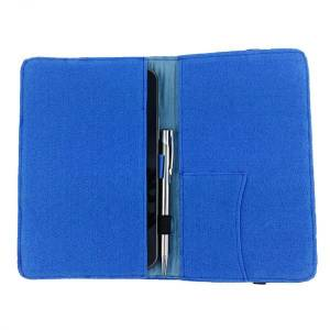 7 Zoll Tablethülle Etui Filztasche Buchhülle Schutzhülle für ebook Tablet blau Bild 2