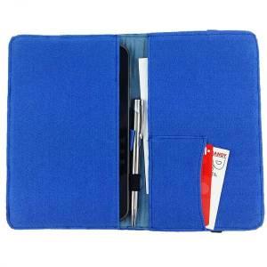 7 Zoll Tablethülle Etui Filztasche Buchhülle Schutzhülle für ebook Tablet blau Bild 4