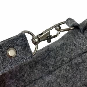 """Vertikal 7"""" Herren Brieftasche aus Filz Tasche Filztasche grau Bild 2"""