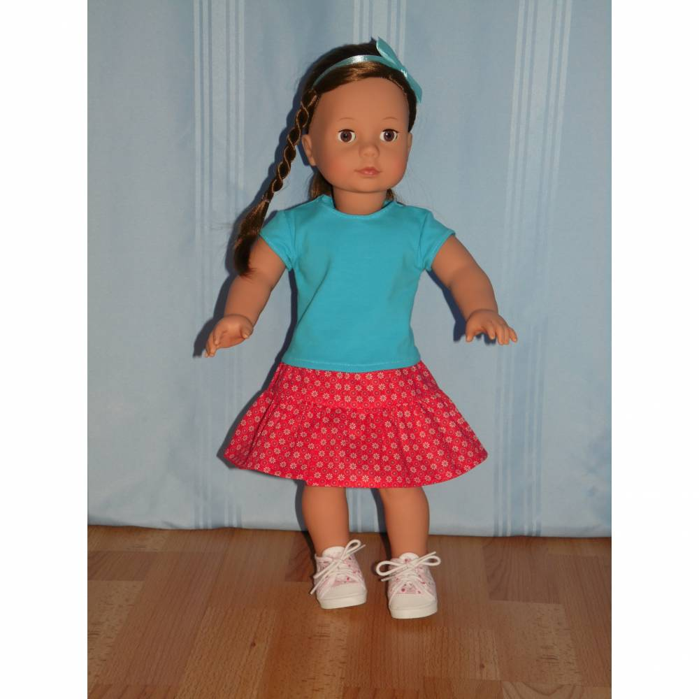 Top und Rock für 45-50 cm Puppen Bild 1