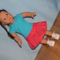 Top und Rock für 45-50 cm Puppen Bild 2