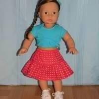 Top und Rock für 45-50 cm Puppen Bild 3