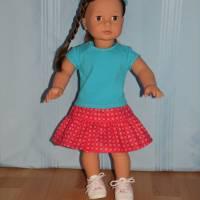 Top und Rock für 45-50 cm Puppen Bild 4