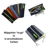 """Mäppchen """"to go"""", Stifte-Mäppchen, Brillenetui, Bullet-Journal-Mäppchen, Jeans-Täschchen, Federmäppchen Bild 1"""
