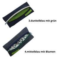 """Mäppchen """"to go"""", Stifte-Mäppchen, Brillenetui, Bullet-Journal-Mäppchen, Jeans-Täschchen, Federmäppchen Bild 5"""