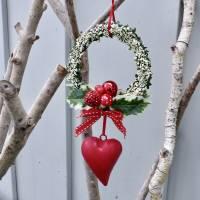 Fensterdeko, Fensterschmuck Winter-Advent-Deko mit Fliegenpilz und Herz Bild 2