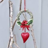 Fensterdeko, Fensterschmuck Winter-Advent-Deko mit Fliegenpilz und Herz Bild 4