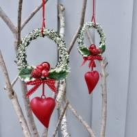 Fensterdeko, Fensterschmuck Winter-Advent-Deko mit Fliegenpilz und Herz Bild 5