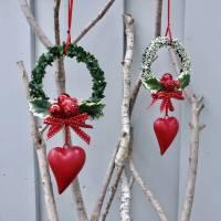 Fensterdeko, Fensterschmuck Winter-Advent-Deko mit Fliegenpilz und Herz Bild 6