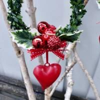 Fensterdeko, Fensterschmuck Winter-Advent-Deko mit Fliegenpilz und Herz Bild 7