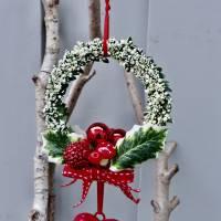 Fensterdeko, Fensterschmuck Winter-Advent-Deko mit Fliegenpilz und Herz Bild 9