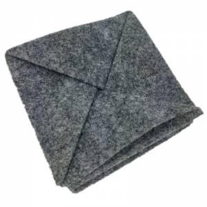 Faltbar Mini Portemonnaie Geldbörse Geldtasche wallet Kinder-Börse handgemacht aus Filz grau Bild 1
