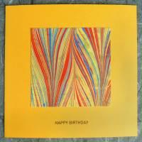 Minimalistische Glückwunschkarte mit handmarmoriertem Papier Bild 1
